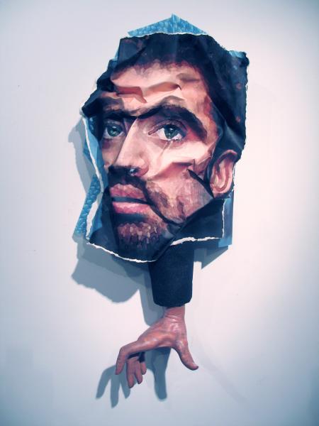 portraits, sculpture, prints, acrylic, mixed media