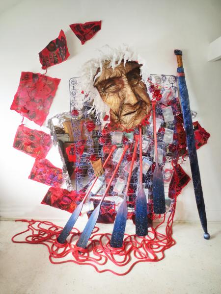 installation, sculpture, mixed media, paper