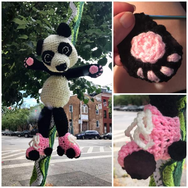 This is Pamela the Pandemic Panda. If you are feeling scared, she will try to comfort you.