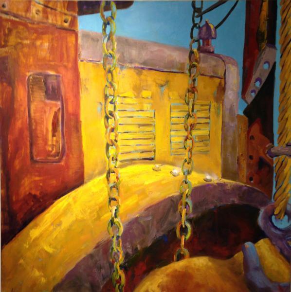 "Oil on Canvas, 36"" x 36"""
