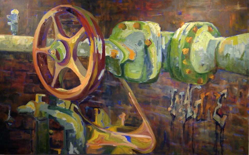 "Oil on Canvas, 24"" x 48"""