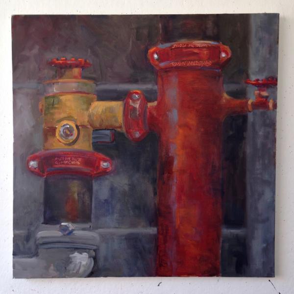 "Oil on Canvas, 24""x 24"""