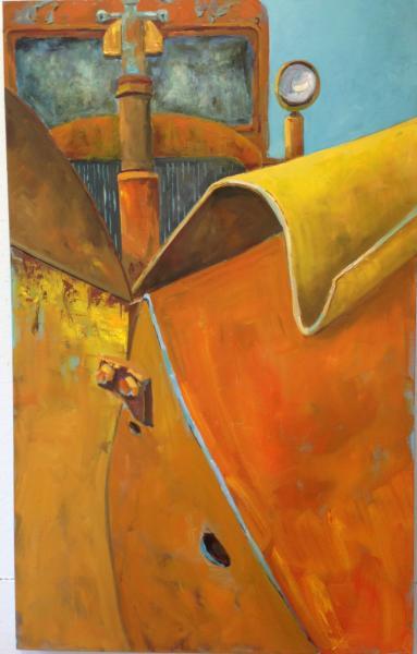 "Oil on Canvas, 48"" x 36"""