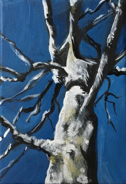 painting, landscape, tree, abstract