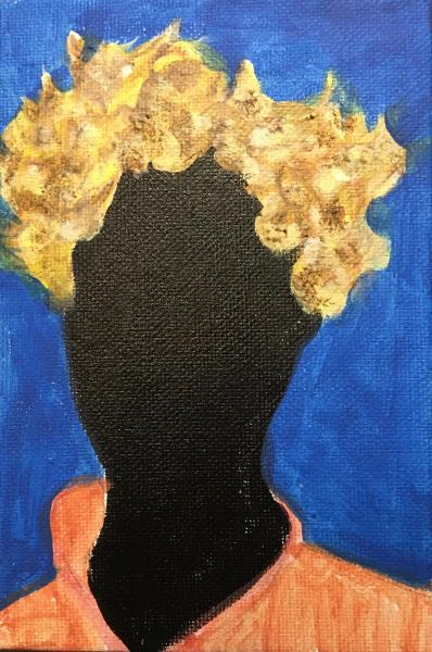 abstract, painting, portrait