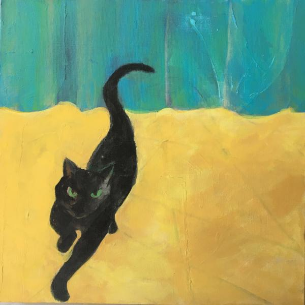 painting, cat, abstract