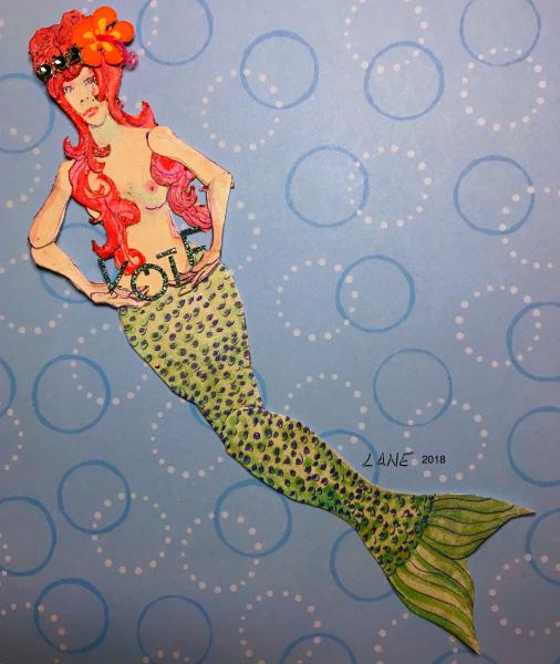 vote, mermaid, mixed media, political
