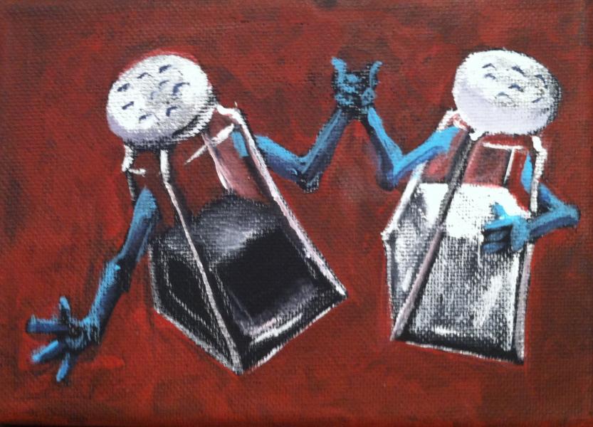 painting, kitchen, salt & pepper,