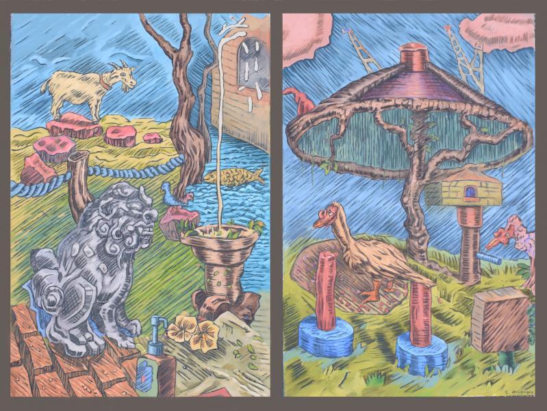 Nagasaki Sketchbooks, The Zoo at the Suwa Shrine