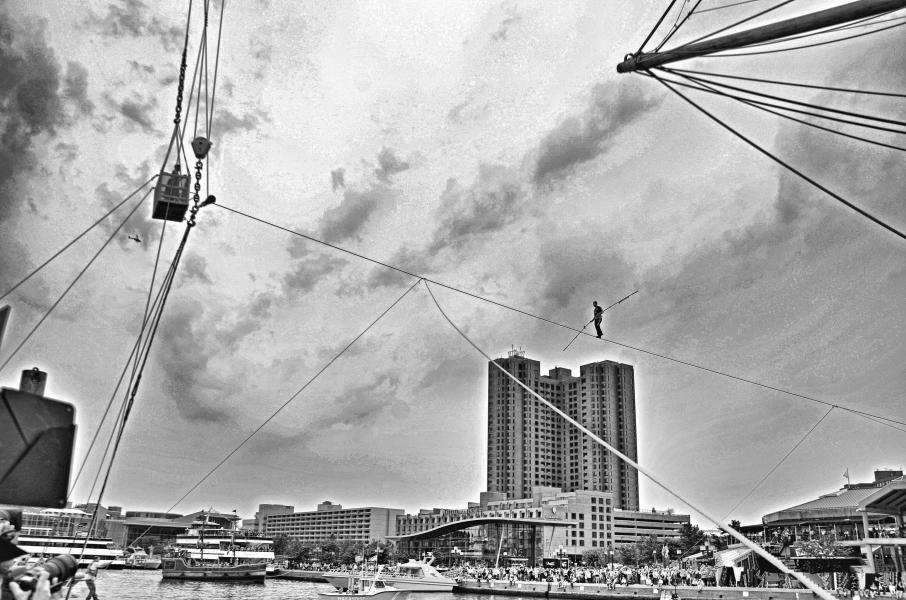 Nik Wallenda Conquers the Inner Harbor