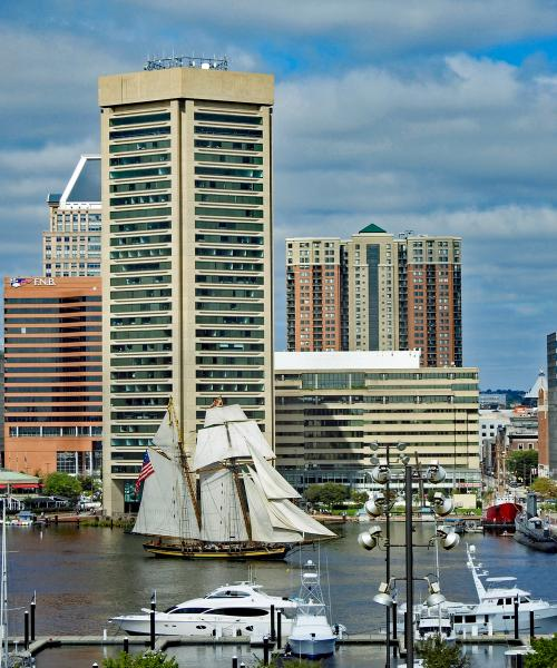The Pride of Baltimore II at the Inner Harbor