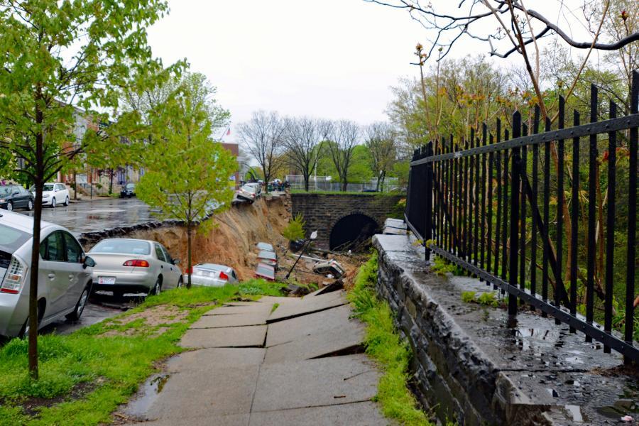 Sinkhole on 26th Street