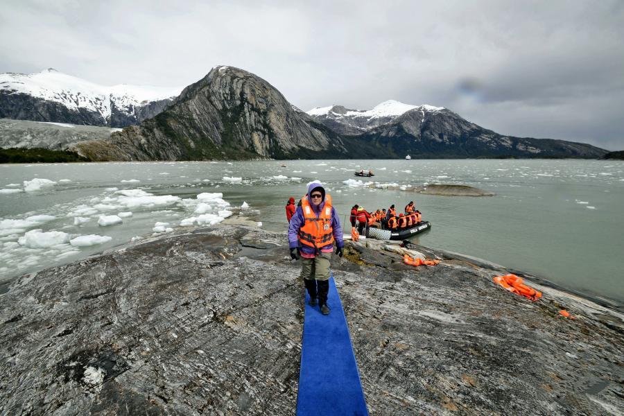 Landing at Pia Glacier, Chile