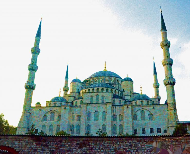 In Turkey, the Blue Mosque