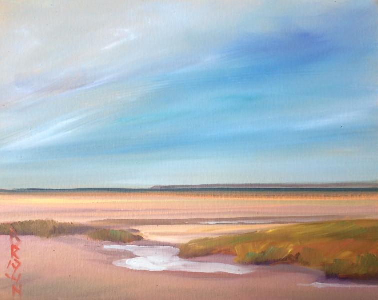 Abstract realist Jo Brown Cape Cod seascape 2016