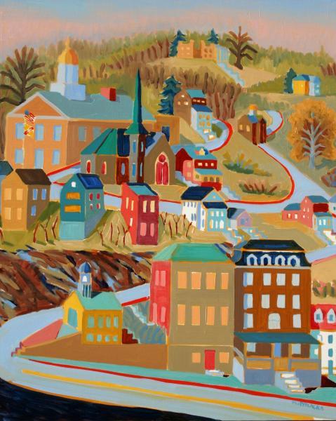 """Ellicott City, acrylic, 30""""x24"""", 2008"""