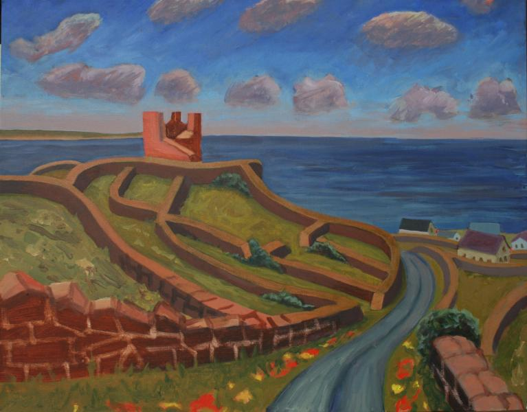 "Inisheer, O'Brien's Castle, acrylic, 24""x30"", 2016"
