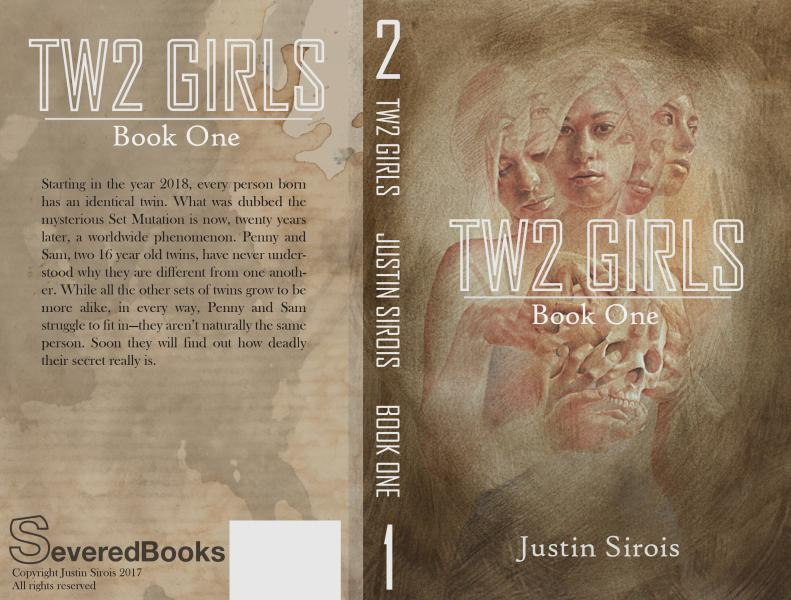 Two Girls paperback layout.