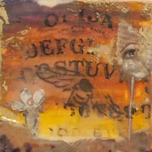 ouija,spring,bee,eye,dada,dreamscape,encaustic