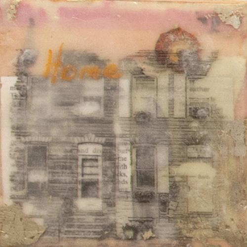 home,rowhome,streetscape,baltimore,encaustic