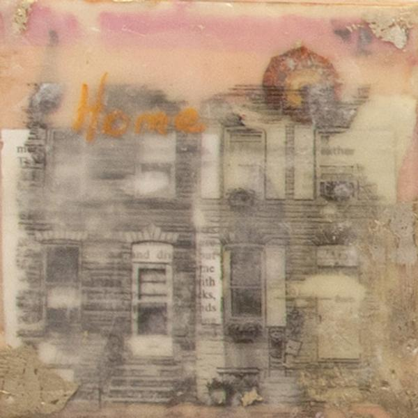 Rowhome, Baltimore, Cityscape, encaustic