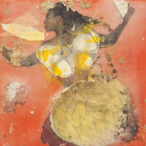 fairy,queen,summer,portrait,hottomato,encaustic,artichoke