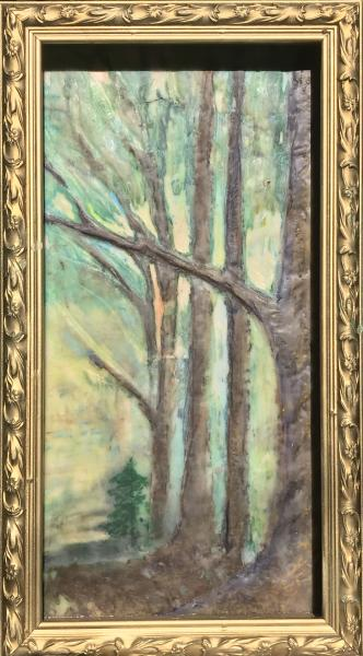 landscape,nature,fall,woods,walkinthewoods,encaustic
