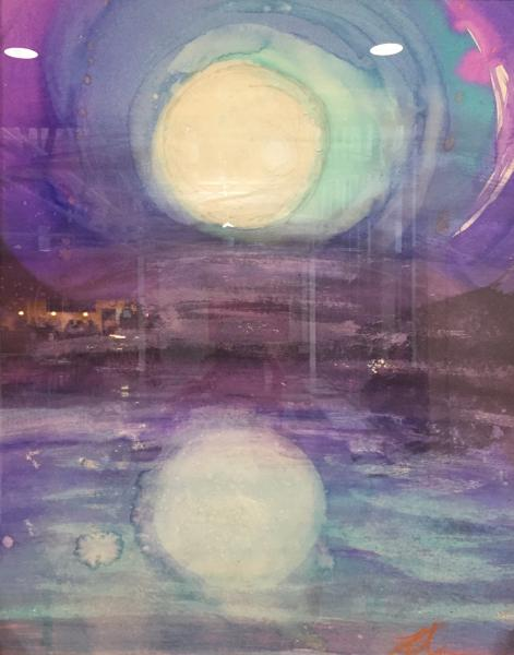 antigravity,aerials,watercolor,seascape