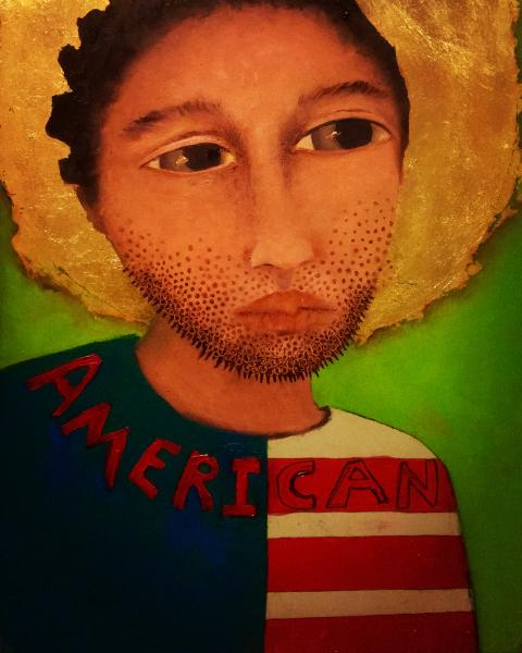 #painting, #oilpainting, #racism, #immigrantart, #political, #contemporary
