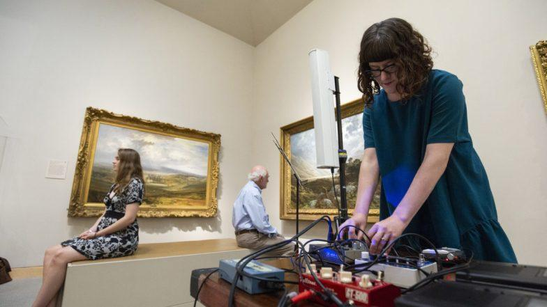 Violist and composer Liz Meredith performs an original work meditating on the landscape paintings on the 4th floor in 2018. The Walters Museum Members Magazine (Summer, 2019).