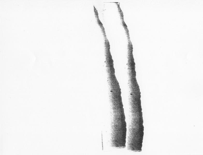 Graphic Score: black ink, paper.