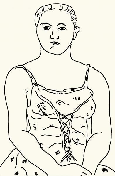 "Charcoal portrait of a woman, 18""x24"""