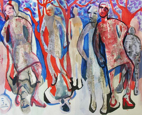 """""""Character Study"""" is giclee developed with watercolor"""