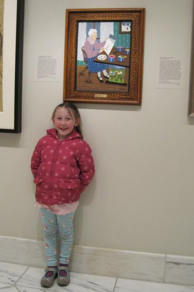 Grandma Moses on display with my friend Lilly