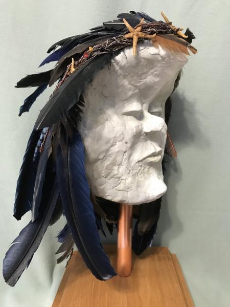 Ken Katzen Man in the Moon mask sculpture