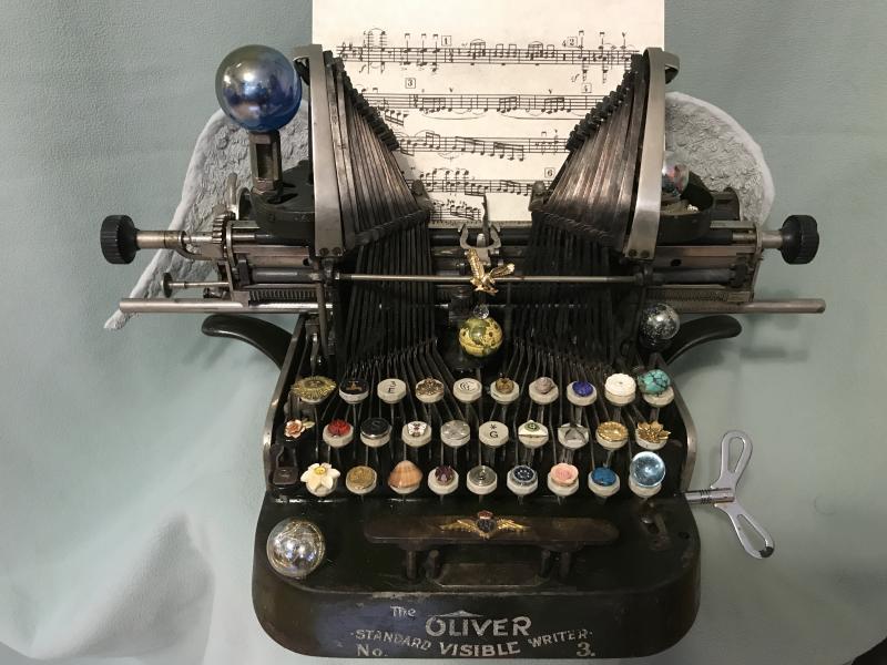 Ken Katzen Typewriter music assemblage sculpture