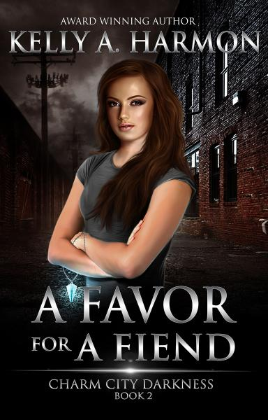 The cover of A Favor for a Fiend by Kelly A. Harmon.
