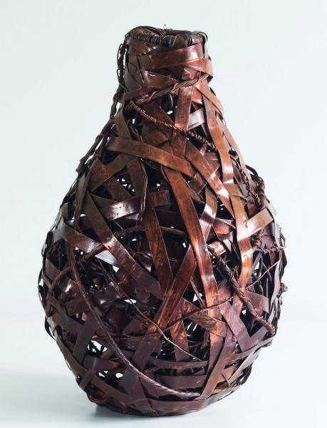 #copper, #woven metal, #woven copper, #recycling, # environmental art, #tea bowl, #basket, #baskets, #woven copper baskets, #woven metal baskets