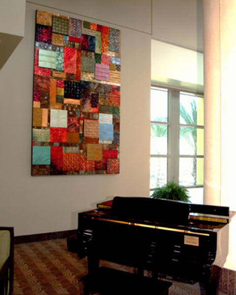 Florida hospital: 130 patches of woven copper and steel quilted with copper and steel wire and staples