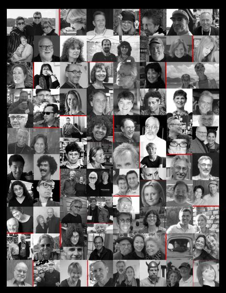 """Original collage I created of contributing craft artists  to the book """"CRAFTSPEOPLE: in their own words"""""""