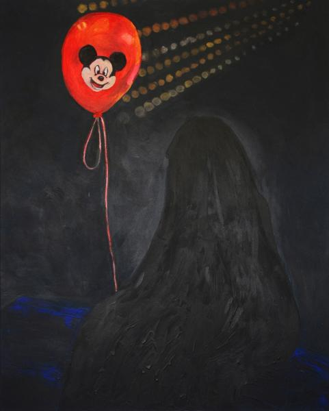 Red Balloon and woman