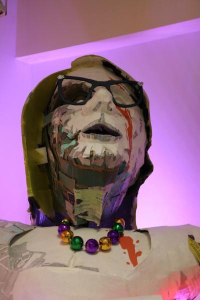 Secretary of Education.  Mardi Gras. Floats. Installation.  Kinetic Sculpture