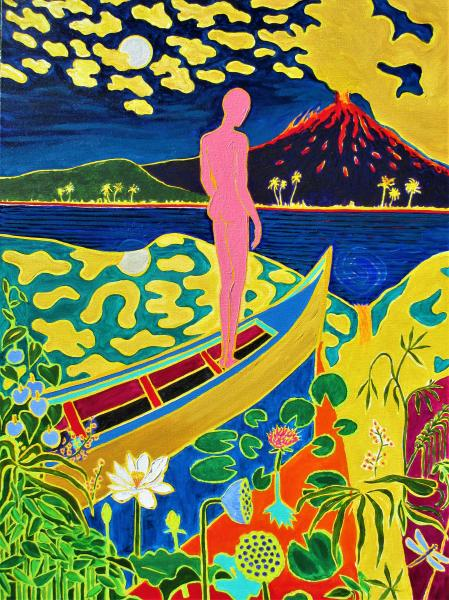 Colorful , Magic Realism , New Romanticism,Hope,Volcano,BMRE 4th Biennial accepted entry.