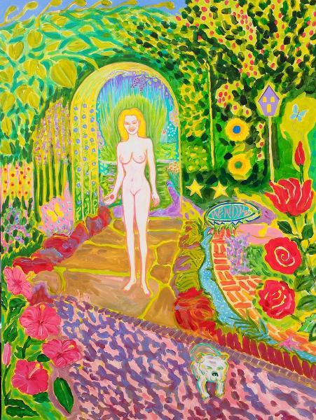 Colorful , Magic Realism , New Romanticism,Hope,Love ,Greek,myth,Goddess,Pets,Blonde,Galatea,