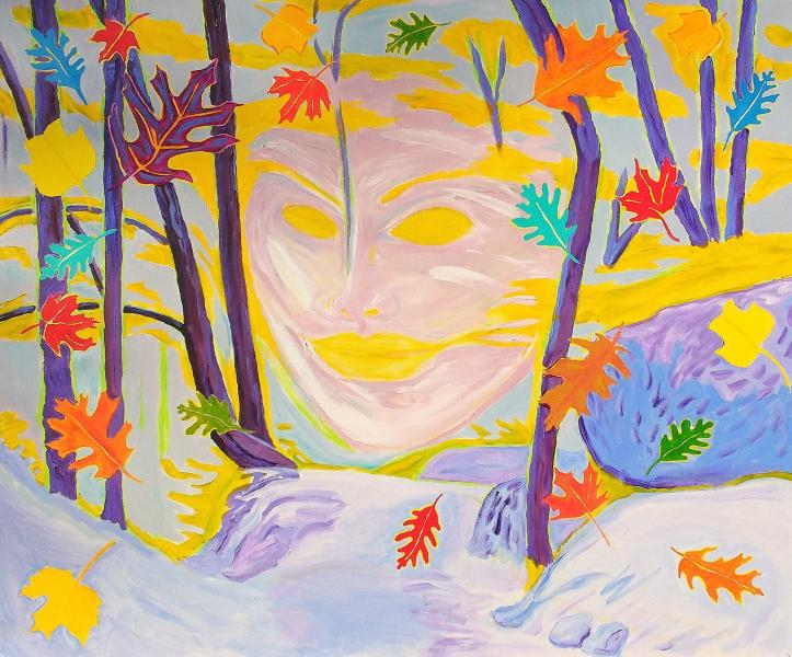 Colorful , Magic Realism , New Romanticism,Hope,Love ,Woods,Leaves,Fall,Nature,Wind,Cold