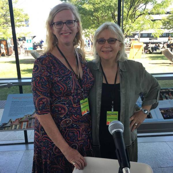 Rahne with Donna Kaz at Baltimore Book Festival 2017