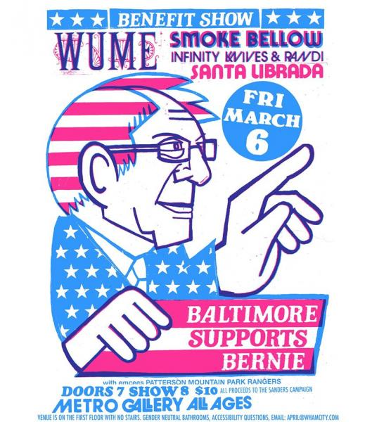 Flyer for Baltimore Supports Bernie, March 2020