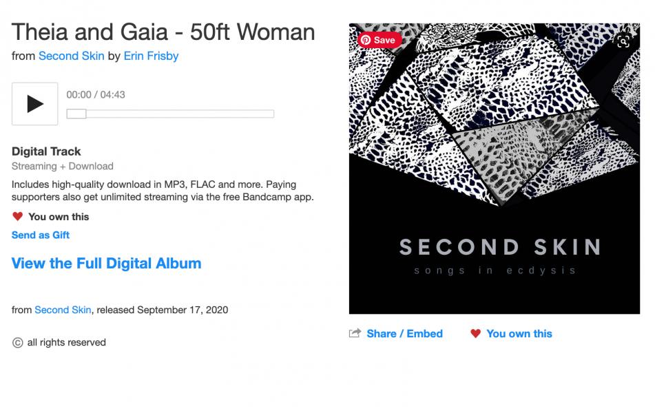 Theia & Gaia - Bandcamp screenshot