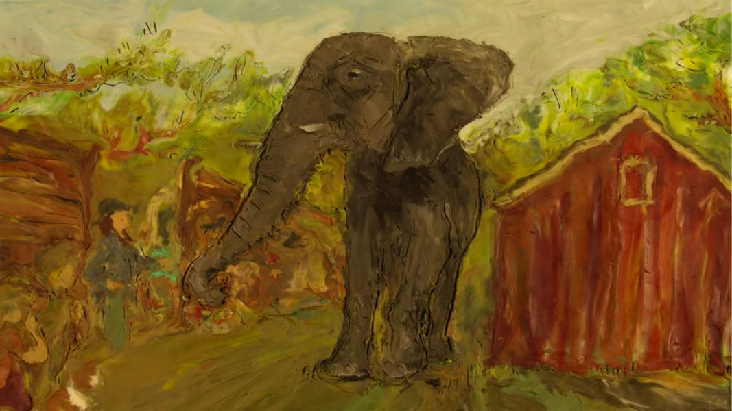 Still from The Elephant's Song by Lynn Tomlinson