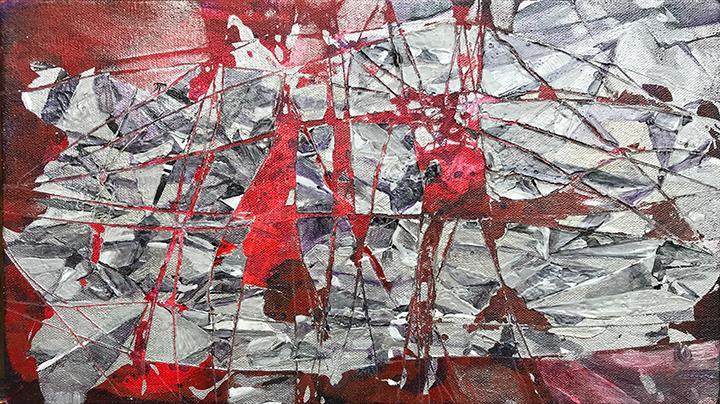 Speculum, Acrylic Painting on Canvvas